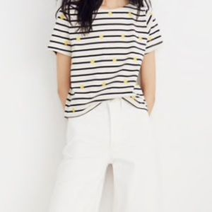 Madewell cropped boxed tee